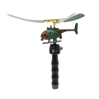 Outdoors Helicopter Pull String Handle Educational Toy Gift For Children Gift