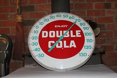 1950s DOUBLE COLA ADVERTISING 18'' THERMOMETER