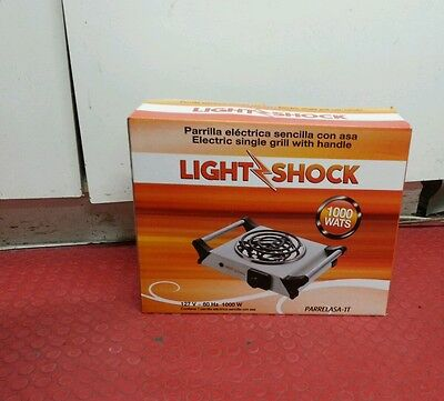 Electric single grill with handle LIGHT SHOCK 127 VOLTS 1000 WATTS PARRELASA-1T