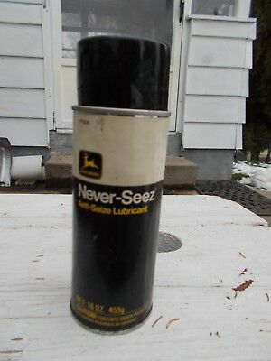 VINTAGE JOHN DEERE NEVER-SEEZ ANTI SEIZE LUBRICANT 16oz. SPRAY CAN