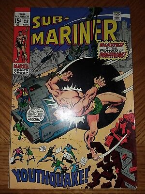 Sub-Mariner #28 VF OFF-WHITE PAGES CRISP COVERS Marvel Comics Roy Thomas