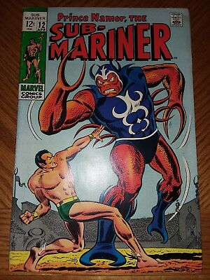 Sub-Mariner #12 VF OFF-WHITE Pages (Apr 1969, Marvel)