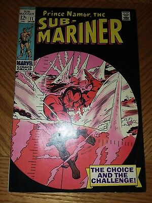 Sub-Mariner #11 VF Great Pages (Mar 1969, Marvel)