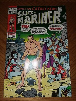 Sub-Mariner #33 VF+ Off-White Pages GREAT COVERS (Jan 1971, Marvel)
