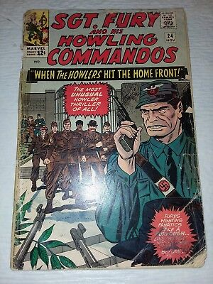 Sgt. Fury And His Howling Commandos #24 VG 1965 Marvel Comics Stan Lee