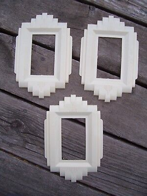 3 Wall Plate Gits Molding Co. Protect-O-Shield Art Deco Vintage 1940's Switch
