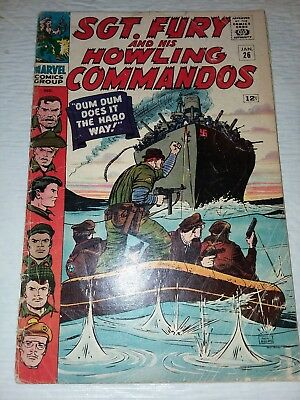 Sgt. Fury And His Howling Commandos #26 VF- 1965 Jack Kirby
