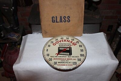 Vintage Pam Clock Inc , Governale Advertising Thermometer ,
