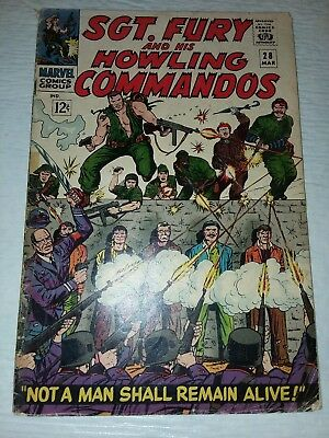 Sgt. Fury And His Howling Commandos #28 VF- 1965