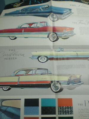 1956 PACKARD Big Poster sized Sales Brochure Included all four models