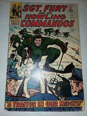 Sgt. Fury And His Howling Commandos #32 FINE+ 1965