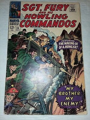 Sgt. Fury And His Howling Commandos #36 VF Nice Pages 1966