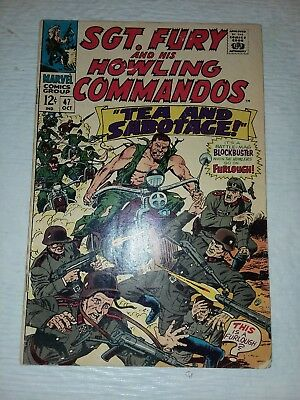 Sgt. Fury #47 VF Nice Pages (Aug 1966, Marvel)