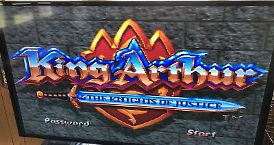 KING ARTHUR AND THE KNIGHTS OF JUSTICE (SNES) See Pics- Works TESTED SEE PICS