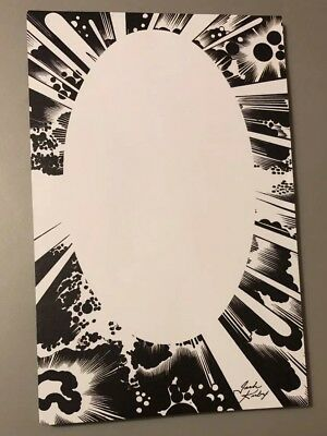 JACK KIRBY Notepad - Black & White Kirby Space Design; New