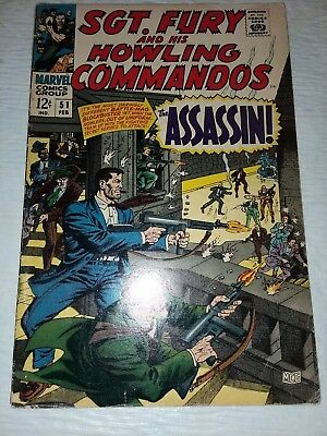 Sgt. Fury And His Howling Commandos #51 VF Off-White Pages  (Feb 1968, Marvel)