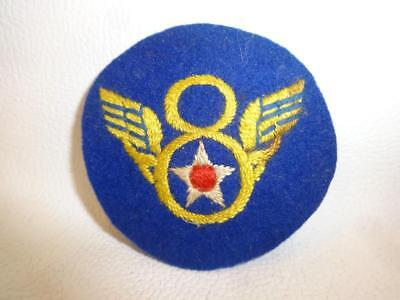 Wwii Usaaf Us Army Air Forces 8Th Af Theater Made Stubby Wing Felt Embroid Patch