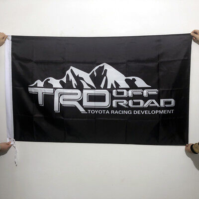 TRD TOYOTA RACING DEVELOPMENT FLAG BANNER 3X5FT SCION TUNDRA TACOMA2Grommets/225