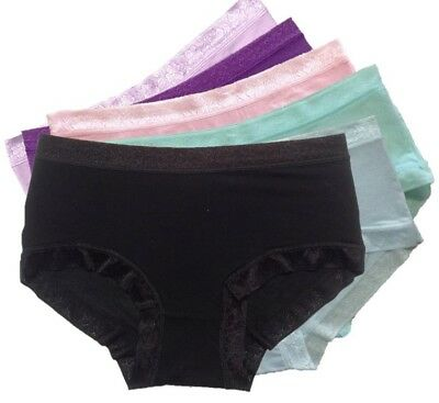 3x, 6x Women's Bamboo Panties Size 10 Silky Soft Mid-rise Brief Ladies Underwear