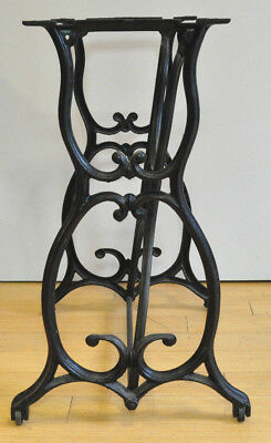 Antique Ornate Cast Iron Sewing Machine Base For Industrial Table Steampunk