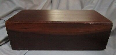 Large Dovetailed 2-Piece Antique Wooden Box