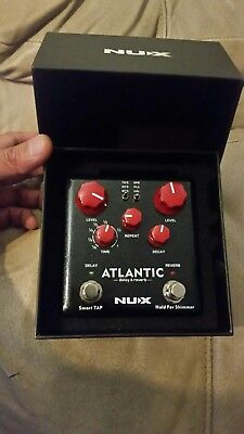 Nux Atlantic Verdugo Series Delay Reverb Guitar Effects Pedal w/ Tap Tempo
