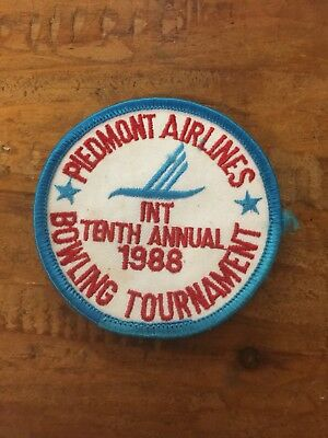 Rare Piedmont Airlines Tenth Annual 1988 Bowling Tournament Patch