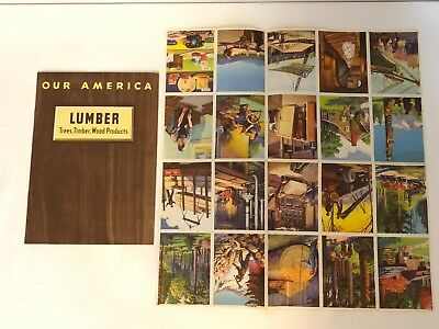 1943 Coca Cola Our America School Booklet On Lumber Book And Stamps