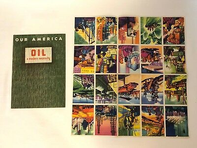 1943 Coca Cola Our America School Booklet On Oil Production Book And Stamps