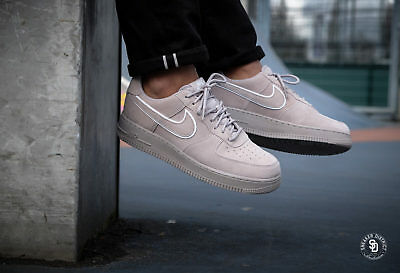 Nike Air Force 1 AF1 MOON PARTICLE GREY SUEDE WHITE BLACK AA1117-201 sz 11 c7a88788c