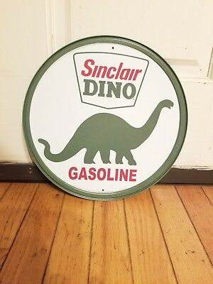 "Sinclair Dino Gasoline Round 12""  Metal Sign"