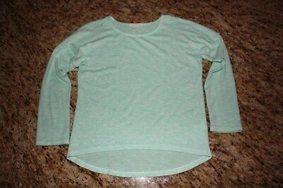 Girls COPPER KEY Lime Green White Fuzzy Look Sweater Pullover Sz L