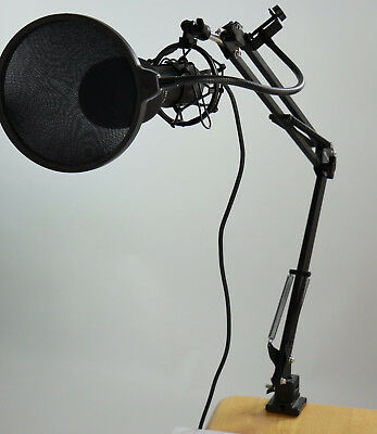 Neewer NW-700 Microphone Scissor Arm Stand Mask Shield Cable