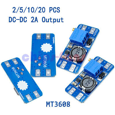 5/10/20 x MT3608 DC-DC Step Up Power Apply Module Booster Power Module 2A Output
