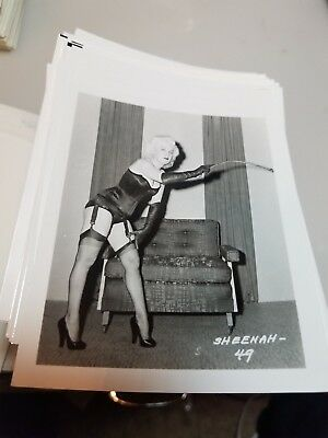 4 X 5 Original Negative Photo From Irving Klaw Archives Of Model Sheenah #49