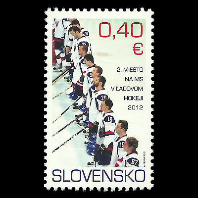 Slovakia 2012 - 2nd Place in the World Ice Hockey Championship - Sc 638 MNH