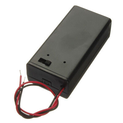 9V Volt Battery Holder Pack Box Case Wire Lead w/ON-OFF Power Switch Toggle Chic