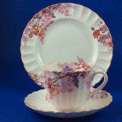 Spode Chelsea Garden Flat Cup And Saucer Trio - Mustard Trim