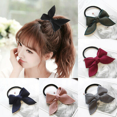 Scrunchies Bows Rubber Hair Rope Ponytail Holder Velvet Bow Women Hair Tie Band