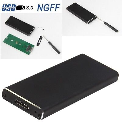 M.2 NGFF B Key SSD SATA TO USB 3.0 External Enclosure Storage Case Box Adapter