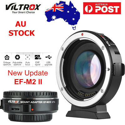Viltrox EF-M2 II Auto Focus 0.71x Speed Booster Adapter for Canon EF lens to M43