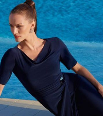Josepth Ribkoff Navy Dress As New RRP $425 Size US 10 Perfect Melbourne Cup,