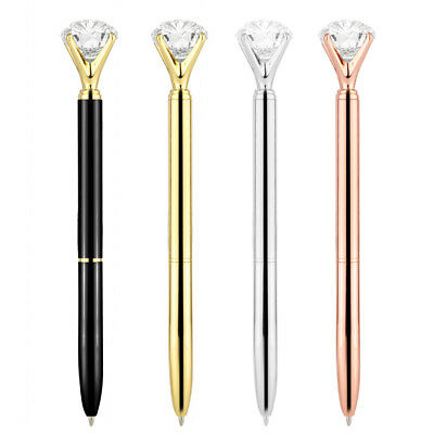3 Set Bling Big Rhinestone On the Top Quality Scepter Crystal Ballpoint Pen Gift