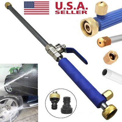 Hydro Jet High Pressure Power Washer Water Spray Gun Nozzle Wand Attachment US