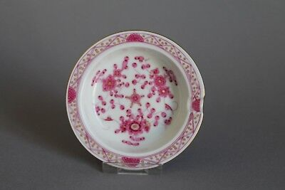 Meissen Purple Indian Pink Flowers Ashtray 1st Crossed Swords #3