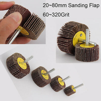 Sanding Flap Grind Wheel 20~80mm Disc Abrasive Rotary Drill 6mm Shank 60~320Grit