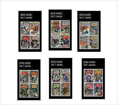 Star Wars 10 Souvenir Sheets Mnh Unperforated Marvel Vol1 Series