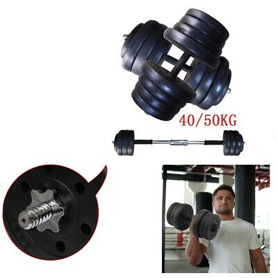 50KG Dumbbells Set Weight Gym Workout Bicep Tricep Free Weights Training UK