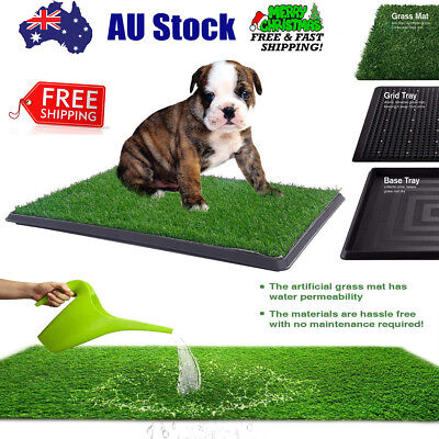 Dog Toilet Mat Pet Potty Training Loo Grass Pad Indoor Puppy Large+Tray+Drawer