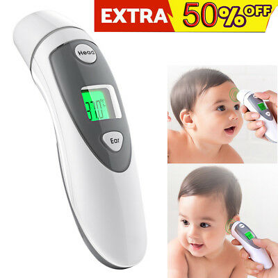 Baby Adult Professional Digital Ear Forehead Thermometer Clinically Temp Tester
